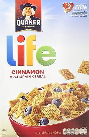 Life - Cereal multigrain con sabor a canela 18 oz. Caja (paquete de 2): Amazon.es: Alimentación y bebidas