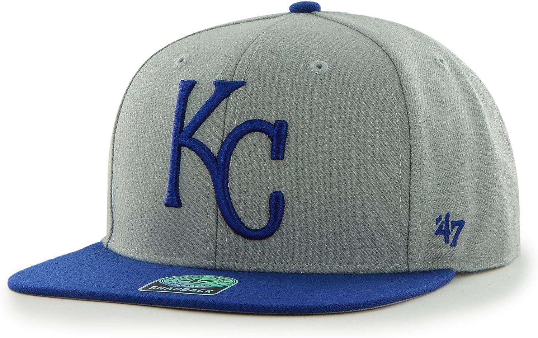 '47 MLB Kansas City Royals Sure Shot Two Tone Captain Wool Adjustable Hat, One Size, Gray