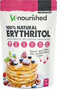 Powdered Erythritol Sweetener (1.14 KG / 2.5 lb) - Confectioners - No Calorie Sweetener, Non-GMO, Natural Sugar Substitute (2.5 Pounds)