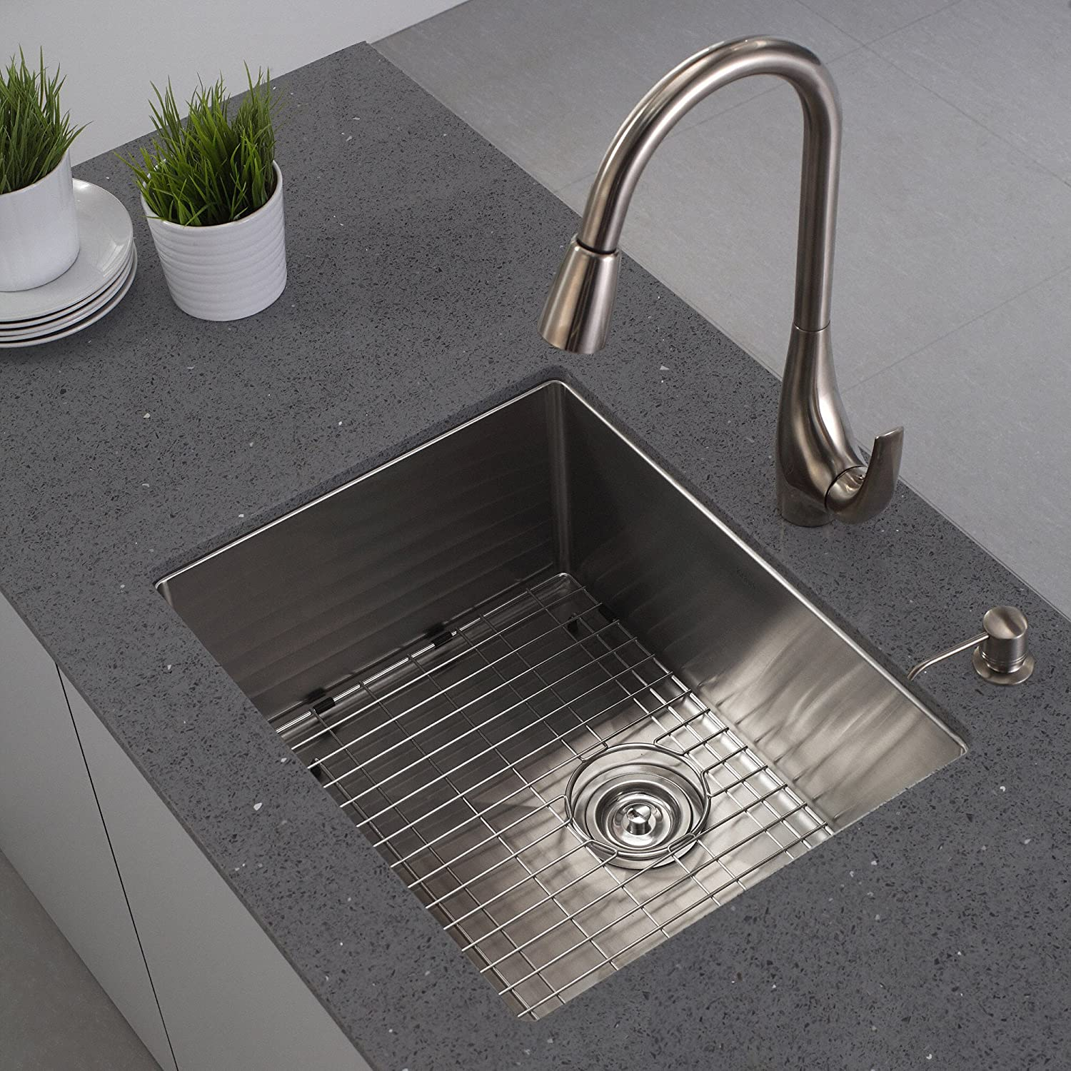 Lovely Kraus KHU101 23 23 Inch Undermount Single Bowl 16 Gauge Stainless Steel  Kitchen Sink     Amazon.com