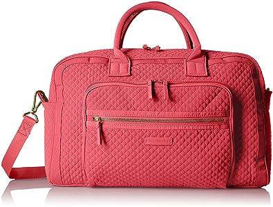 53cb65e71a43 Amazon.com  Vera Bradley Iconic Compact Weekender Travel Bag Vera ...