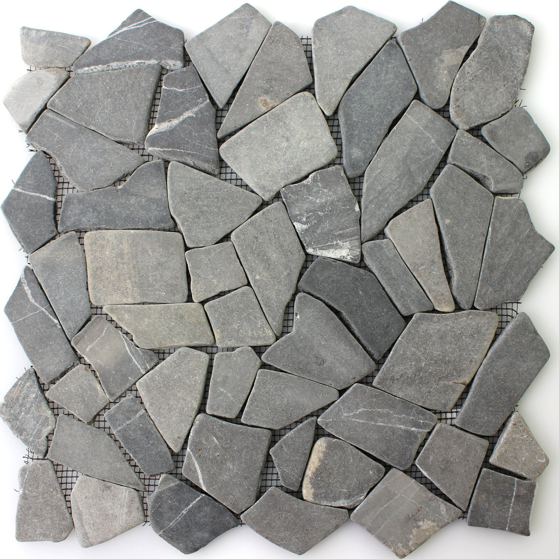 Naturstein Fliesen Marmor Bruch Nero | Wandfliesen | Mosaik-Fliesen | Bruch-Mosaik | Naturstein | Ideal fü r die Kü che und Badezimmer Mosafil