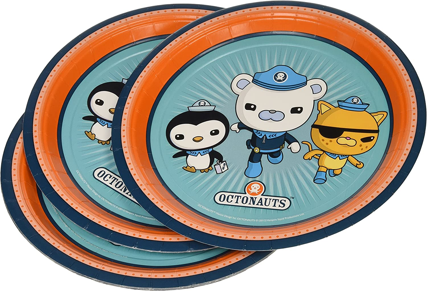 Amscan International 9-inch Octonauts Plate Pack of 8
