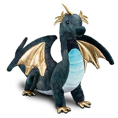 Douglas Aragon Navy Dragon Plush Stuffed: Toys & Games