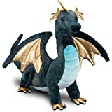 Douglas Aragon Navy Dragon Plush Stuffed