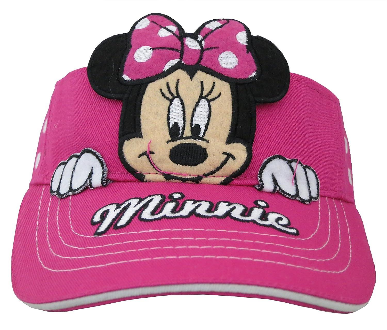 f4e8837e166 Amazon.com  Disney Minnie Mouse Girls Hot Pink Visor Cap  2013   Clothing