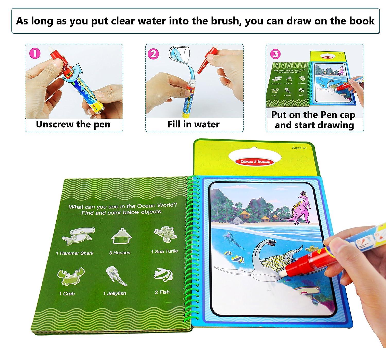 BBLIKE Wiederverwendbares Wasser Malbuch Wasser Malerei Spielzeug ...