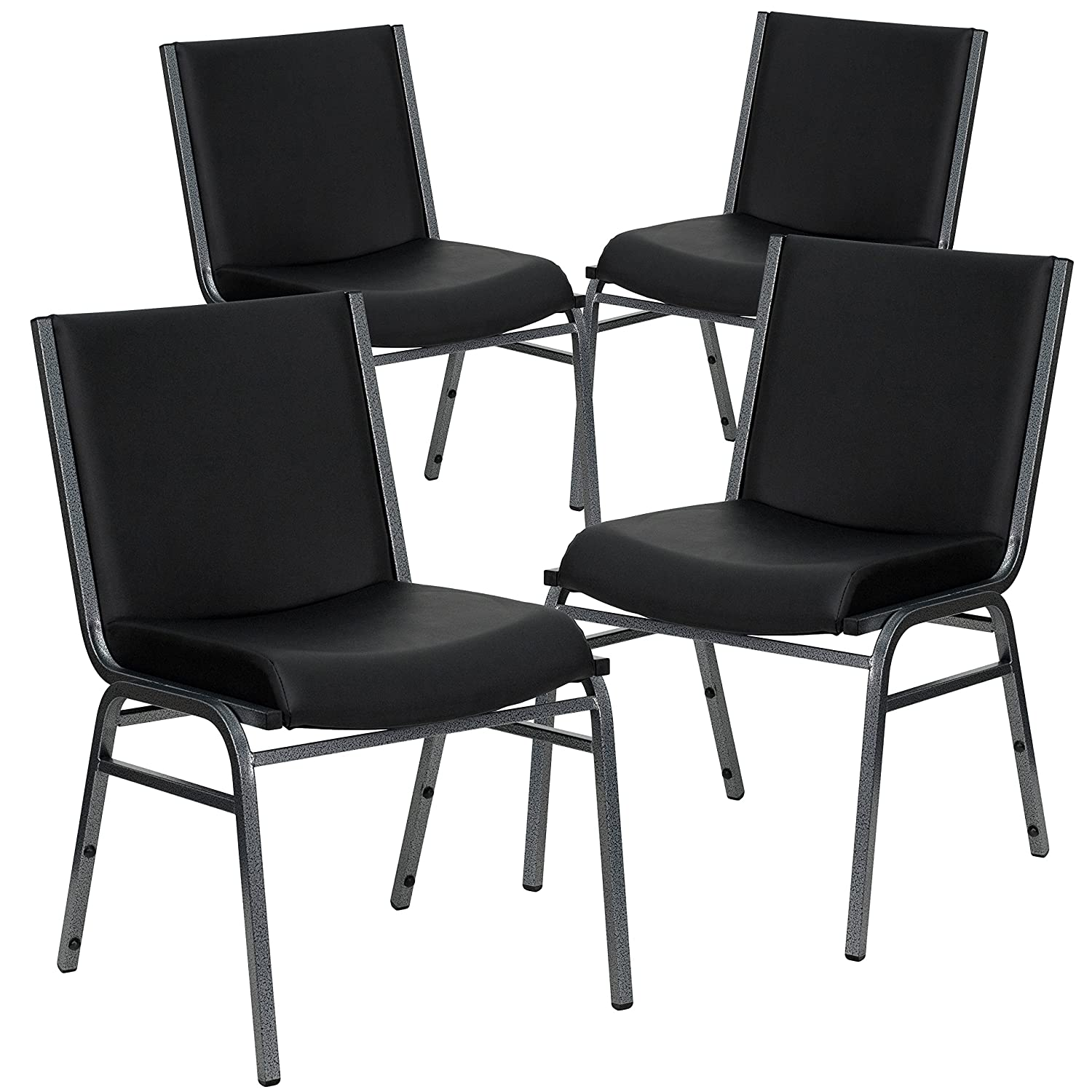 Amazon.com: Flash Furniture 4 Pk. HERCULES Series Heavy Duty Black ...