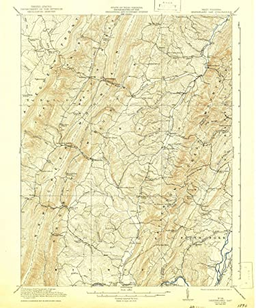 Amazon.com: YellowMaps Greenland Gap WV topo map, 1:62500 ...