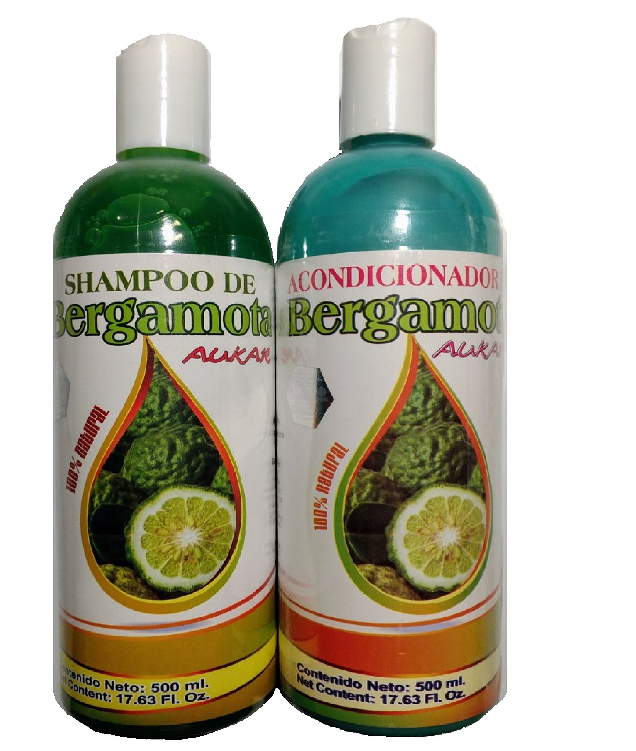 Bergamot Shampoo and Bergamot Conditioner (SET)  500 ml ea. 100% Natural,