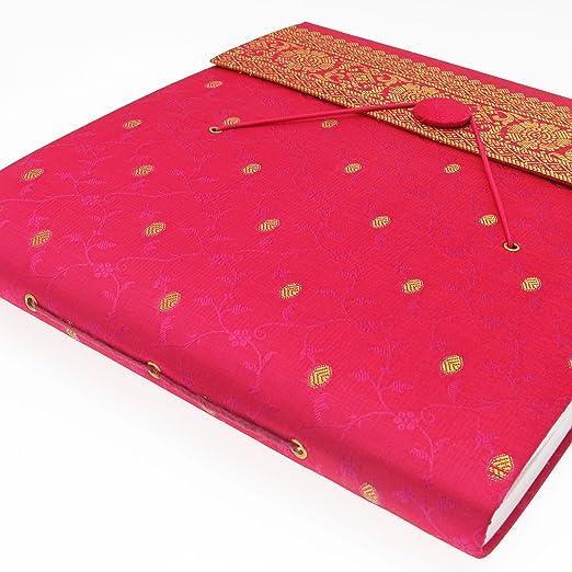 El comercio justo Hecho A Mano medio Sari Álbum De Fotos Scrapbook