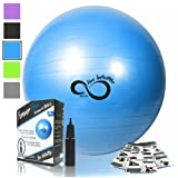 Amazon Price History for:Exercise Ball -Professional Grade Exercise Equipment Anti Burst Tested with Hand Pump- Supports 2200lbs- Includes Workout Guide Access- 55cm/65cm/75cm/85cm Balance Balls