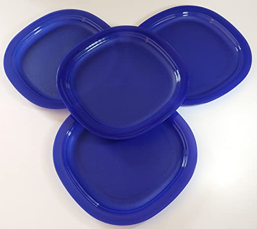 Tupperware Microondas platos de postre en Tokio azul: Amazon ...