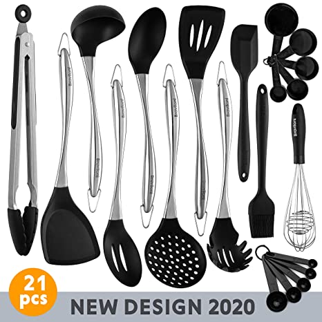 Amazon.com: Juego de utensilios de cocina de 21 piezas ...