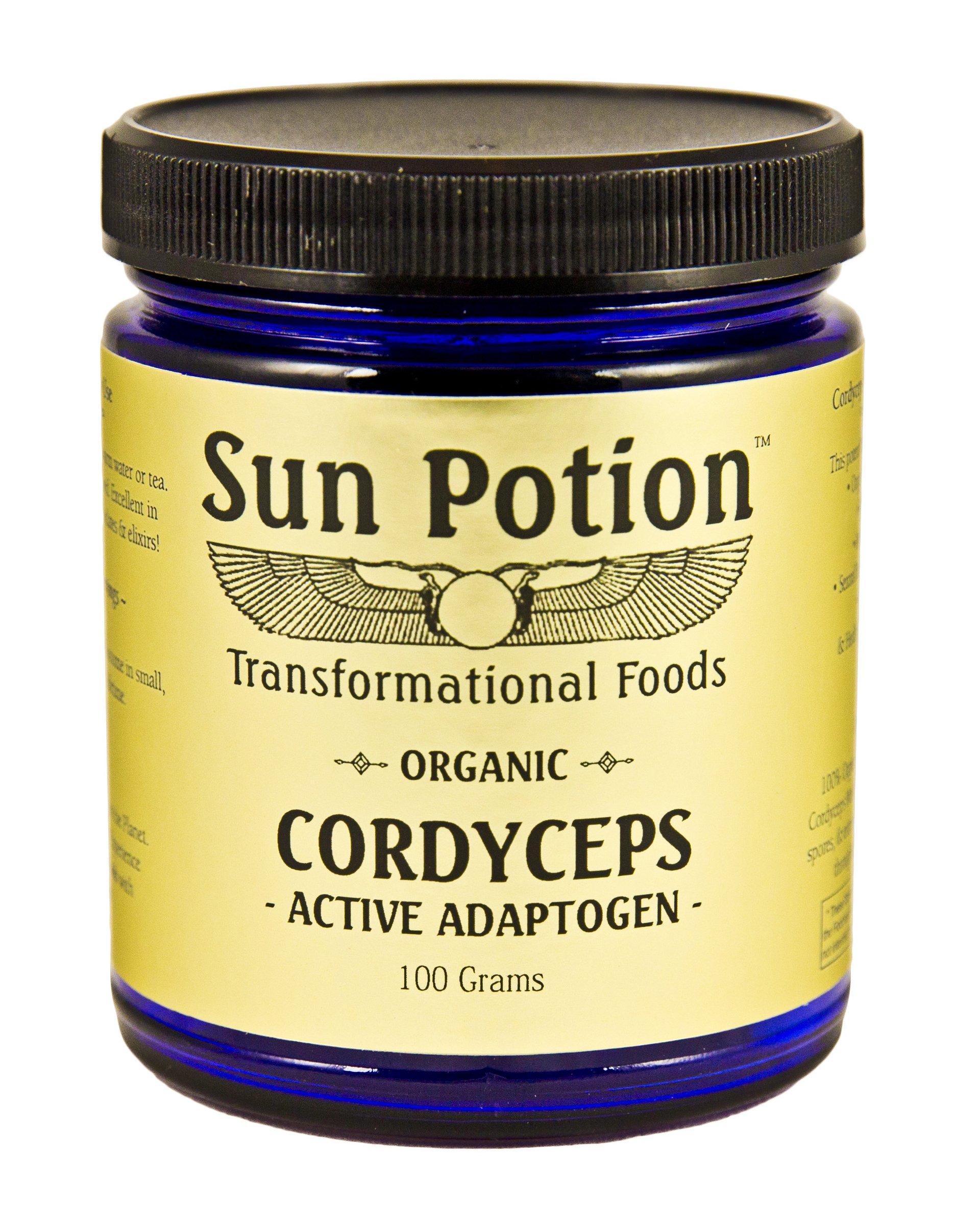 Sun Potion Organic Cordyceps Mushroom Powder - 100 Gram Jar