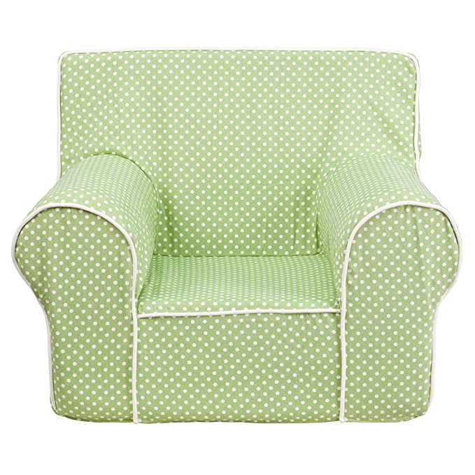 Amazon.com: flash furniture lunares verdes niños Silla con ...