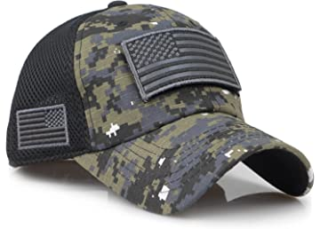 0fa8d0f187f9ee Sox Market Camouflage Constructed Trucker Special Tactical Operator Forces  USA Flag Patch Baseball Cap
