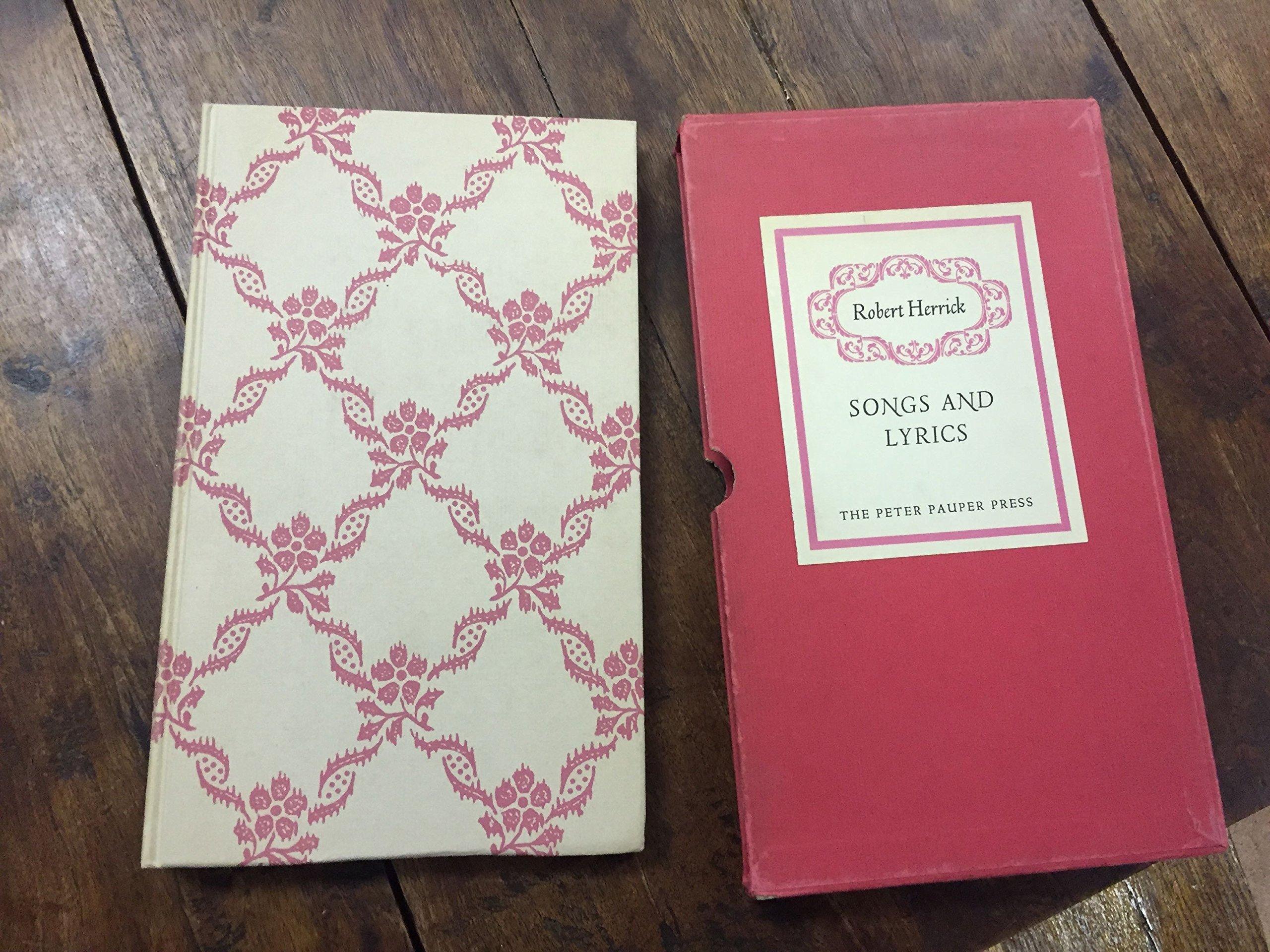 Songs and lyrics in slipcase robert herrick amazon books stopboris Image collections