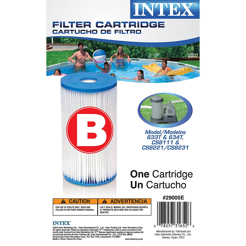 Full Case of 6 Intex Brand Type B Pool Filter Cartridges - For Intex Model  51, 633, ...