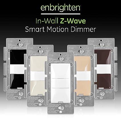 GE Enbrighten, White & Light Almond, Z-Wave Plus Smart Motion Light on