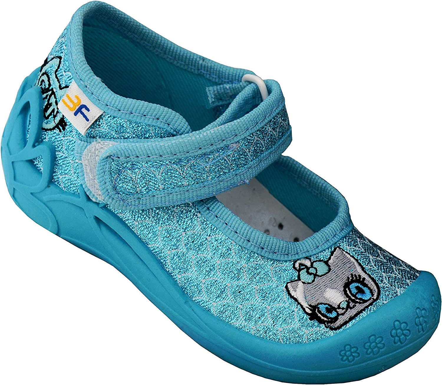 Mice Pink Hearts 2.5-7.5 U 1-3 Years Little Girls Newborn Firts Walking Shoes with Touch Fastener and Leather Insole with Active Carbon Kids Baby Girls Shoes 3f freedom for feet Blue Dots