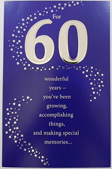 Amazon.com : For 60 Wonderful Years - Happy 60th Birthday ...