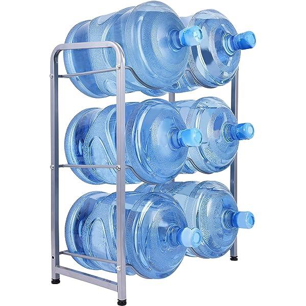 Water Cooler Jug Rack 5-Tier Water Bottle Storage Rack 5 Gallon Jugs Water Detachable Heavy Duty Water Bottle Holder Shelf Save Spacer Easy to Assemble for Home Office Organization Copper Bronze
