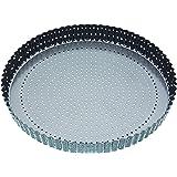Master Class Moule à quiche/tarte circulaire et cannelé Revêtement antiadhésif Gris 30cm