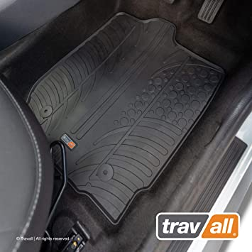 Travall Floor Mats TRM1004R Vehicle-Specific Full Set of Rubber Car Mats