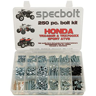 250pc Specbolt Brand Bolt Kit Fits: Honda TRX450R TRX450ER & TRX700XX for Maintenance & Restoration OEM Spec Fasteners Quad: Industrial & Scientific