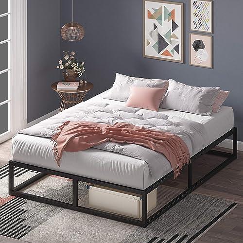 Zinus Joseph 10 Inch Metal Platforma Bed Frame / Mattress Foundation / Wood Slat Support / No Box Spring Needed / Sturdy Steel Structure