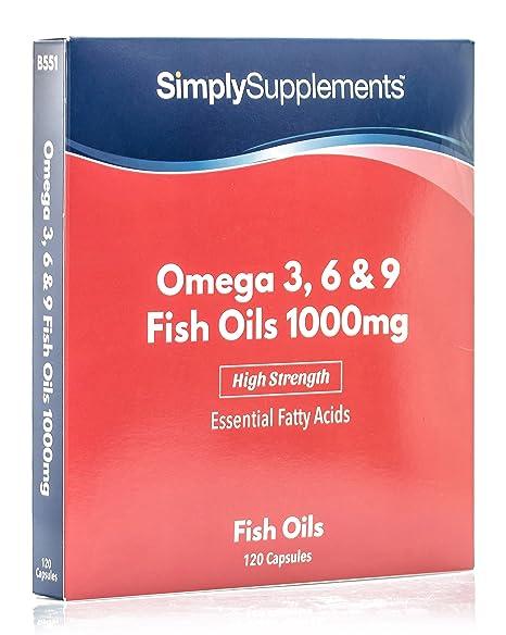Omega 3-6-9 1000mg - 120 cápsulas – Hasta 4 meses de suministro