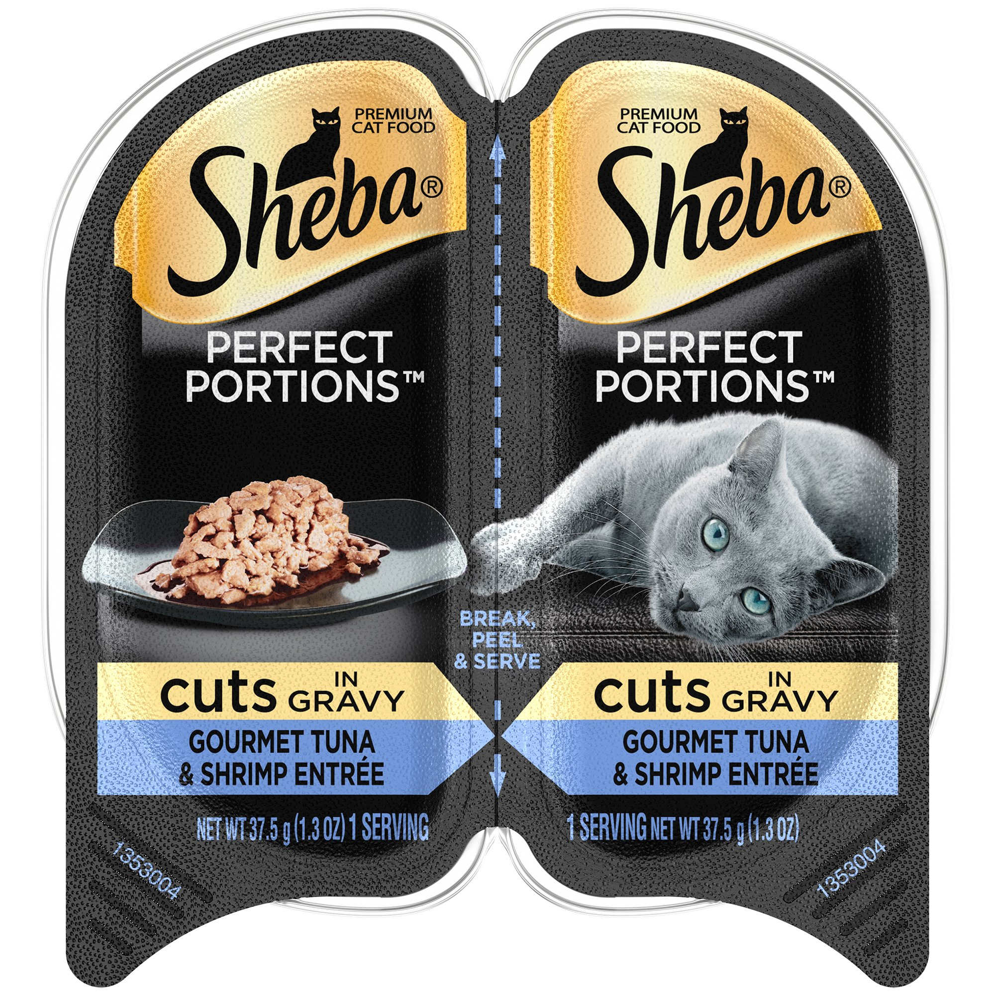 Sheba Wet Food SHEBA PERFECT PORTIONS Cuts in Gravy Tuna and Shrimp Entrée Wet Cat Food 2.6 oz. (24 Twin Packs)