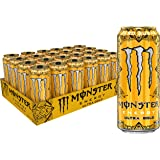 Monster Energy Sugar Free Drink 16 Ounce Pack Of, Ultra Gold, 384 Fl Oz, (Pack of 24)