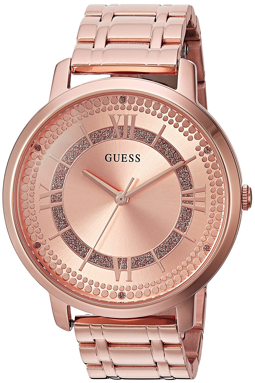CDM product GUESS Women's Rose Gold-Tone Slim Classic Watch big image