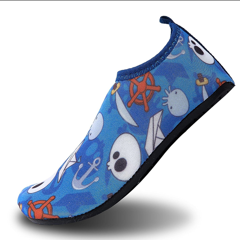 Le LeKuni Badeschuhe Kinder Mädchen Jungen Schwimmschuhe Surfschuhe Barfus Schuhe Wasserschuhe Strandschuhe Aquaschuhe Rutschfeste Neoprenschuhe