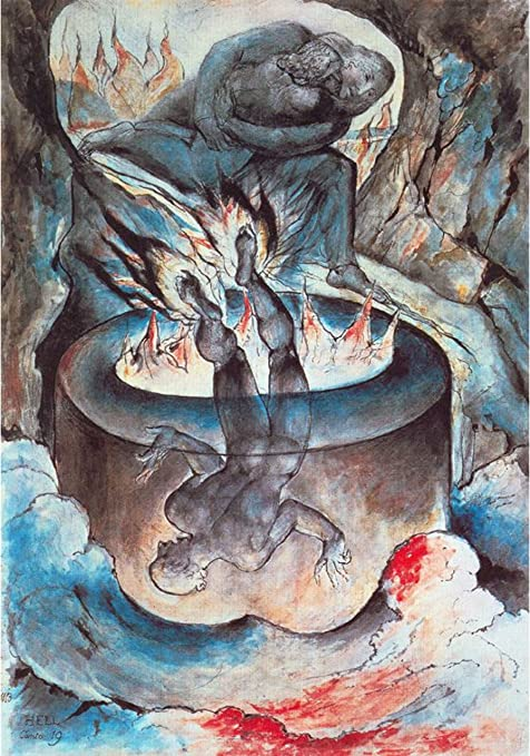 Amazon Com Illustration To Dante S Divine Comedy Hell By William Blake Posters Prints