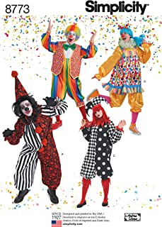 product image for Simplicity 8773 Adult Clown Costume Sewing Pattern, Sizes XS-XL