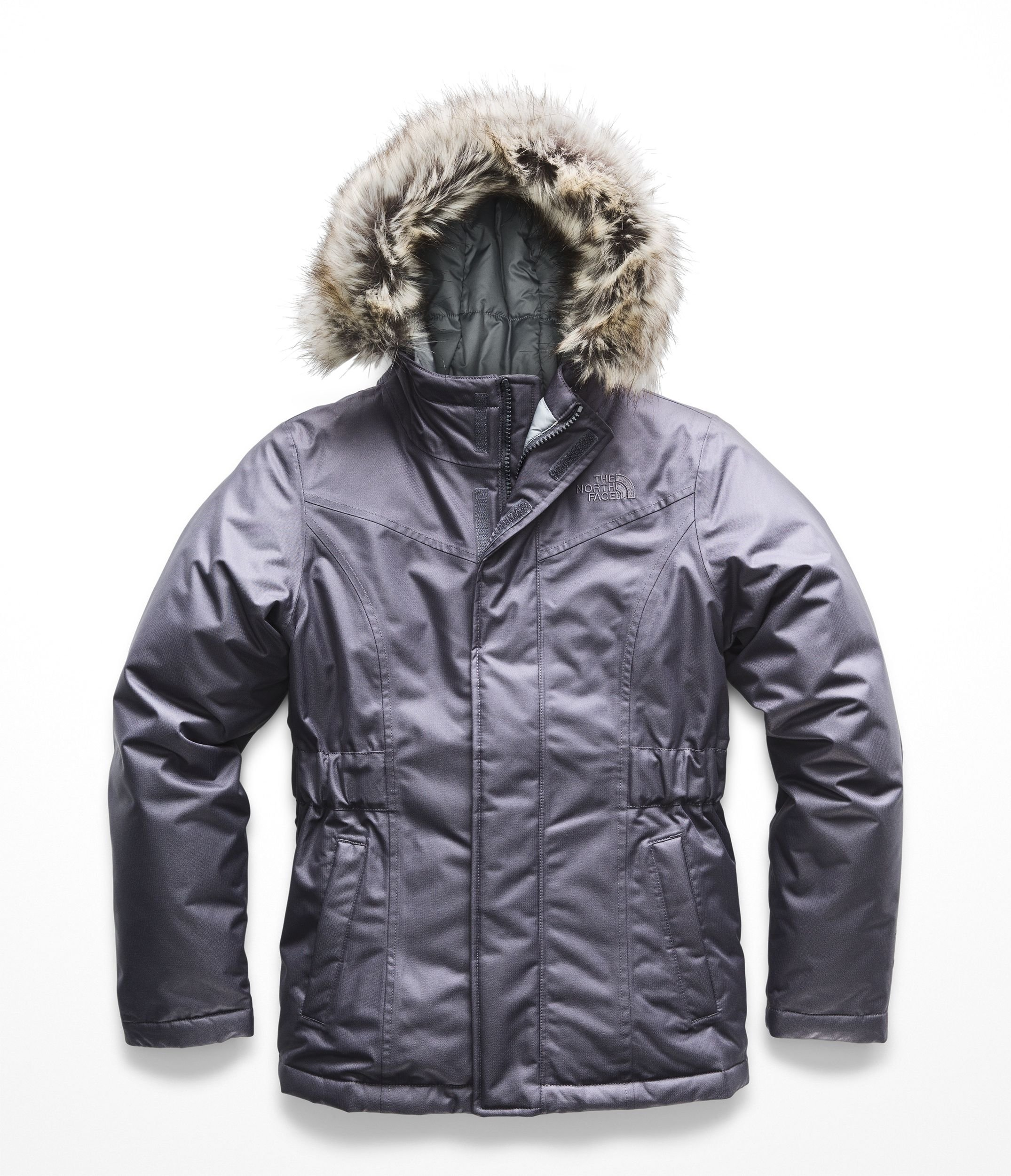 The North Face Girl's Greenland Down Parka - Periscope Grey - XS
