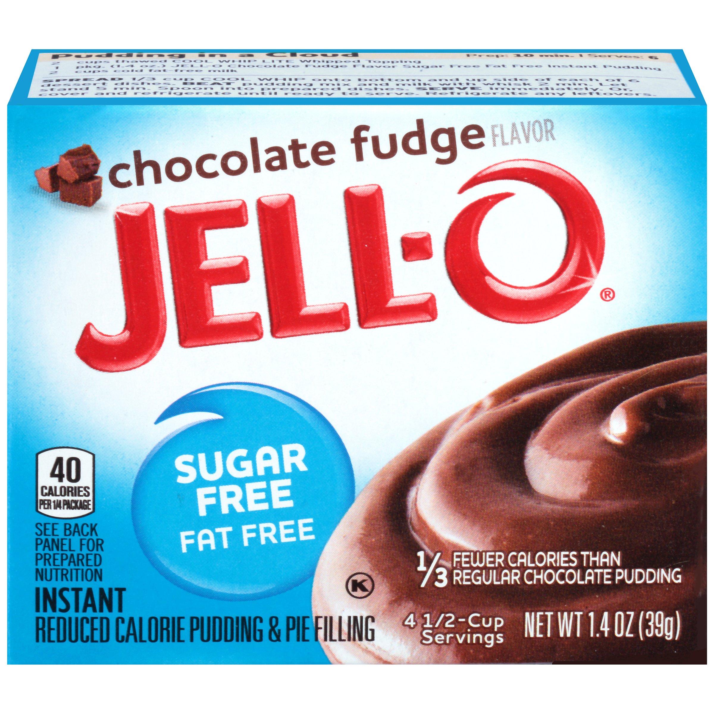 Jell-O Instant Sugar-Free Fat-Free Chocolate Fudge Pudding & Pie Filling, 1.4 oz Box
