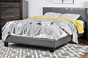 Furniture of America Lauren Platform, Queen, Gray