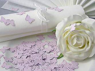 EinsSein 10g Streudeko Hochzeit Butterfly rosa Tischdeko Hochzeit ca. 160St
