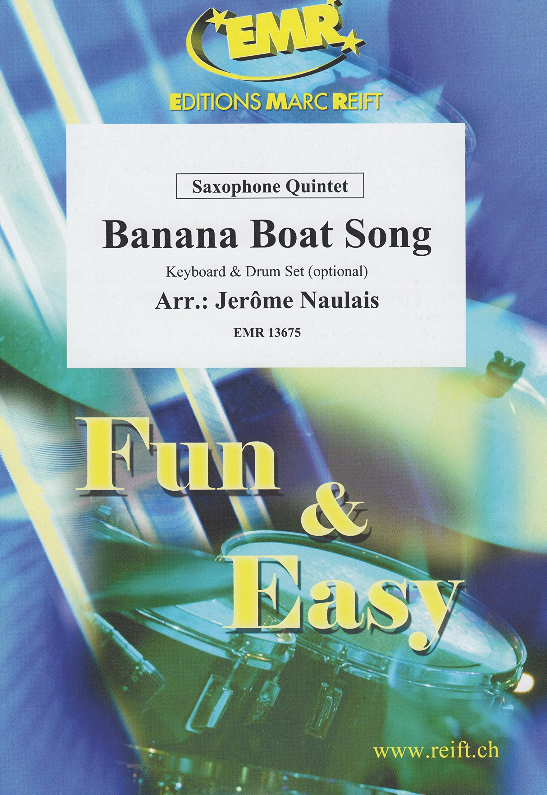 Banana Boat Song for Saxophone Quintet Arranged by Jerome Naulais by Jerome Naulais (Image #1)