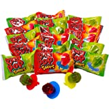Ring Pop Sours Individually Wrapped Bulk Variety Party Pack – 30Count Candy Lollipop Suckers w/ Assorted Flavors