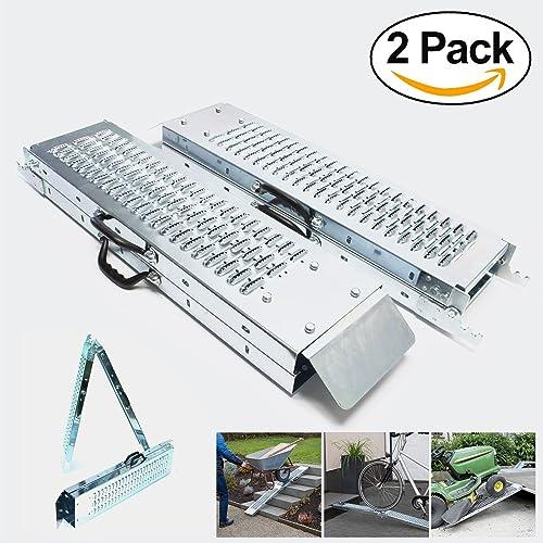Rampa plegable   Rampas de carga 400 kg max   Rampa plegable para Moto y rampa de acceso   Resistente y conveniente   Tamaño 160 x 22.5x 4.5cm
