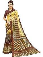 Glory Sarees Women's Bhagalpuri Art Silk Saree(gloryart12_brown)