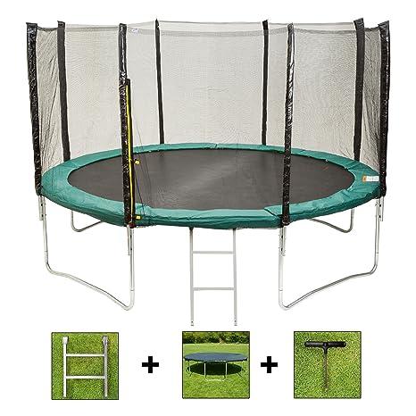 Cama elástica AirBounce, redonda y rectangular, de 1,8 m, 2,4 m, 3 ...