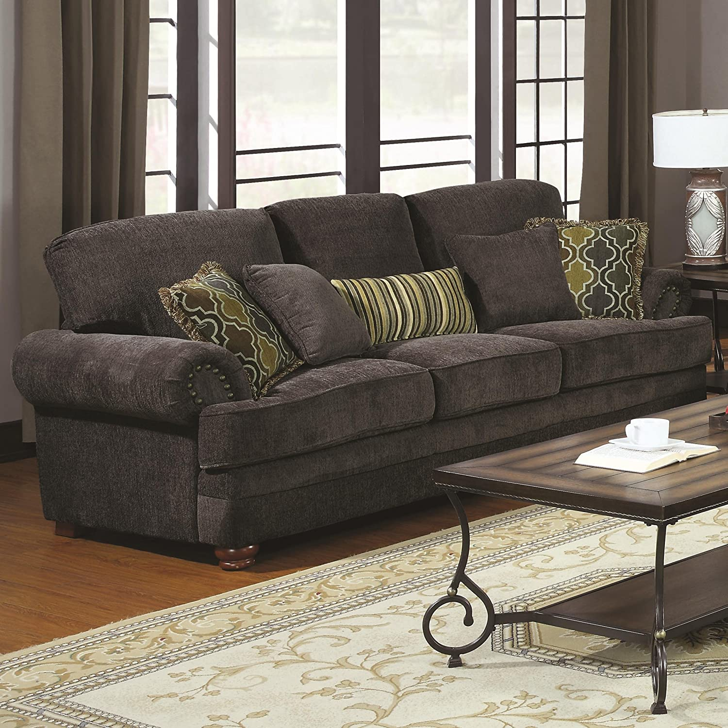 Amazon Coaster Colton Sofa Smokey Grey Kitchen & Dining
