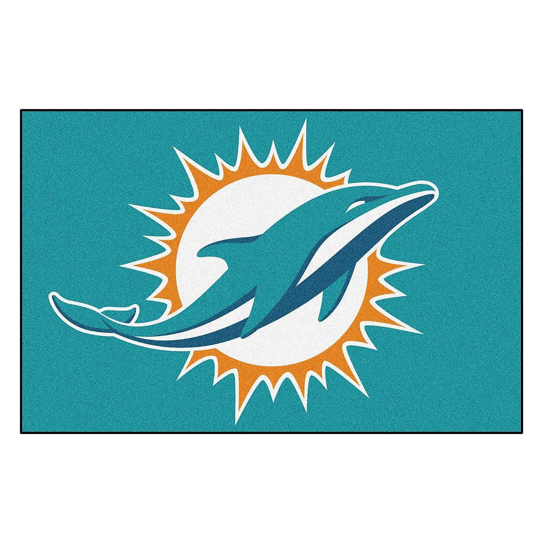 1d445373 Amazon.com : FANMATS NFL Miami Dolphins Nylon Face Starter Rug ...
