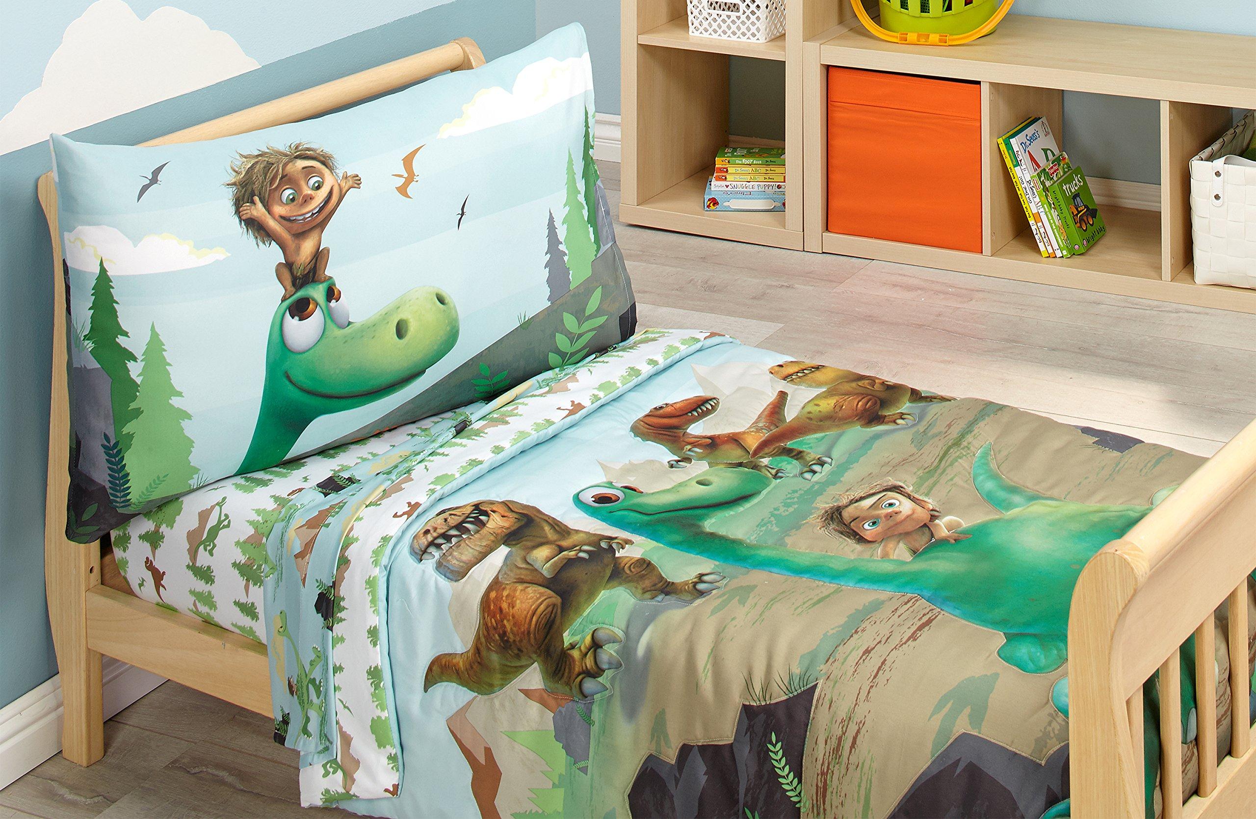 Disney Prehistoric Footprints 4 Piece Toddler Bed Set, The Good Dinosaur